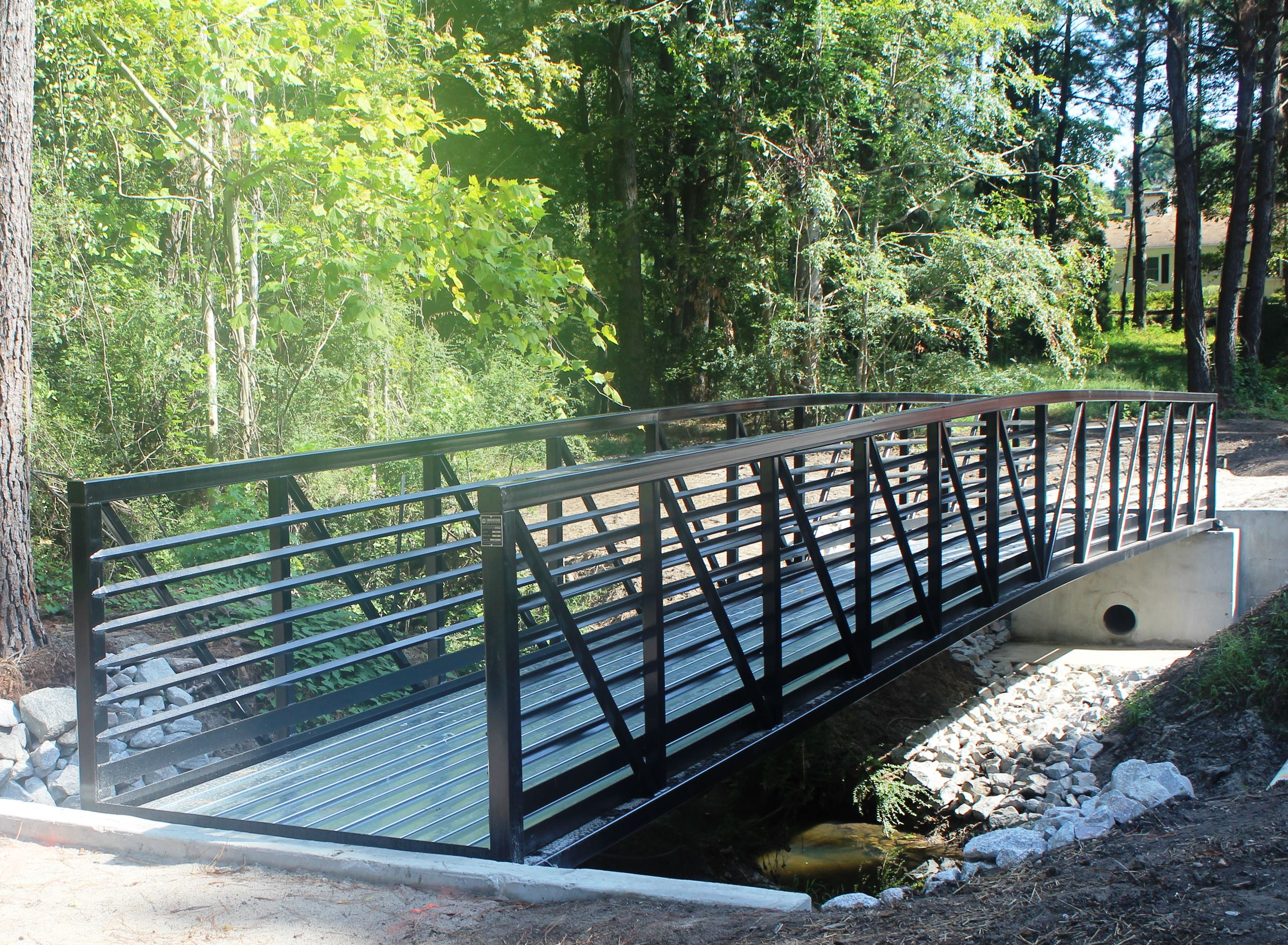 Pedestrian bridge over creek